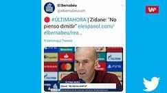 Liga Mistrzów. Zinedine Zidane straci pracę? Trener Realu Madryt zabrał głos na konferencji