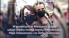 Gwiazdy wspierają protesty kobiet