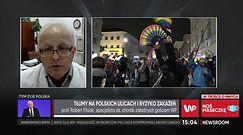 Koronawirus w Polsce. Czy protesty kobiet spowodują falę nowych zakażeń? Prof. Flisiak komentuje