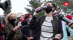 Strajk Kobiet przed Sejmem. Reakcja na słowa Jarosława Kaczyńskiego