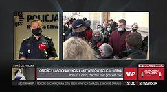 Mariusz Ciarka o incydencie pod kościołem w Warszawie. Broni policji