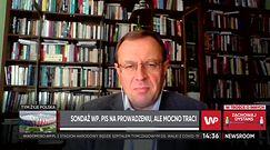 Sondaż dla WP. Antoni Dudek o spadku popracia dla PiS