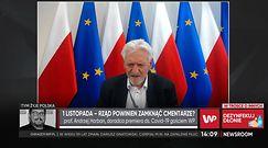 Koronawirus w Polsce. Prof. Andrzej Horban o bezpieczeństwie na cmentarzach podczas Wszystkich Świętych