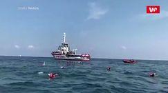 Desperacki krok imigrantów, chcieli dopłynąć do Palermo
