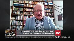 Prof. Krzysztof SImon o szczepionkach na grypę: jesteśmy opóźnieni