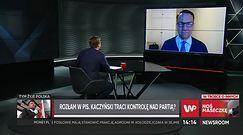 Rozłam w PiS. Radosław Sikorski o Kaczyńskim i stenogramach z podsłuchów