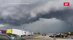 Oberwanie chmury nad Lublinem. Do sieci trafiły nagrania