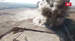 Spektakularne wysadzanie min. Nagranie z drona robi wrażenie