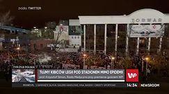 Kibice Legii Warszawa pod stadionem. Zdecydowany komentarz eksperta