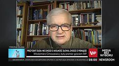 Protest mediów. Włodzimierz Cimoszewicz odpowiada Andrzejowi Dudzie