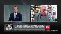 """Powrót do szkół. Prof. Krzysztof Simon o terminie decyzji. """"Trzeba to zrobić"""""""