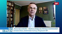 Podatek od reklam. Jarosław Sellin oskarża media. Doszło do ostrej wymiany zdań z dziennikarzem