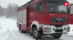 Atak zimy w Gorlicach. Strażacy ostrzegają przed niebezpieczeństwem