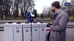 """Minister klimatu zdaje test na segregowanie śmieci. """"Kilka pułapek zastawił pan na mnie"""""""