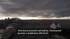 Apokaliptyczne niebo i grad wielkości piłek do golfa