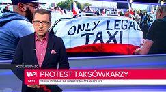 Protesty taksówkarzy w największych polskich miastach