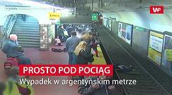 Prosto pod pociąg. Wypadek w argentyńskim metrze