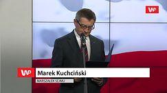 Marek Kuchciński rezygnuje. Na konferencji miał nietęgą minę