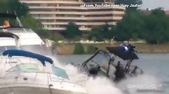Policja staranowała jacht