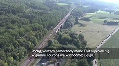 Wykolejenie pociągu w Belgii