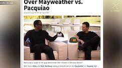 Mark Wahlberg i Diddy założyli się o walkę Mayweathera z Pacquiao