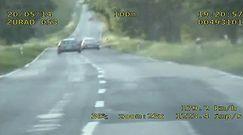 Wyprzedził radiowóz, jadąc niemal 200 km/h