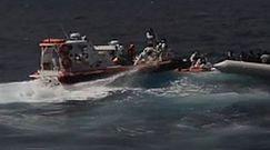 350 uchodźców z Afryki uratowanych przez włoską straż przybrzeżną
