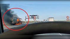 Pożar tira na drodze ekspresowej S8. Nagrania z miejsca zdarzenia