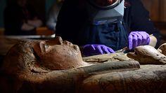 Przypadkowe odkrycie w trumnie mumii