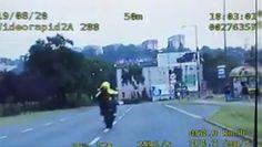 Szalony motocyklista. Popisywał się w centrum miasta