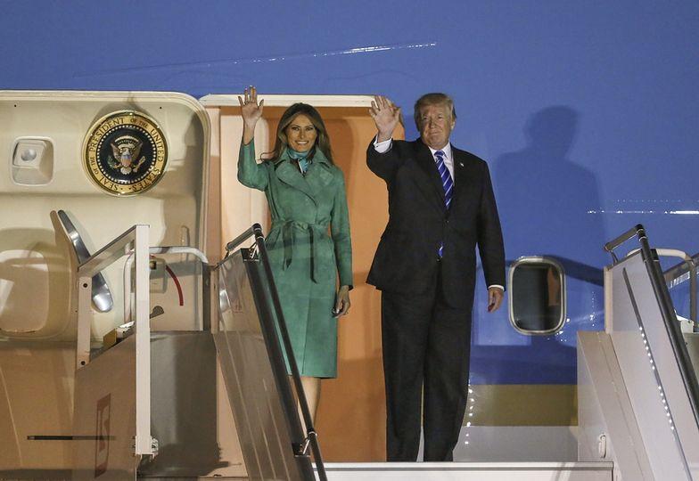 Melania i Donald Trump w Polsce