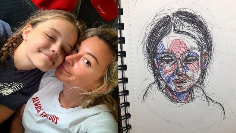 Córka Martyny Wojciechowskiej jest utalentowaną artystką. Pokazuje swoje rysunki na Instagramie