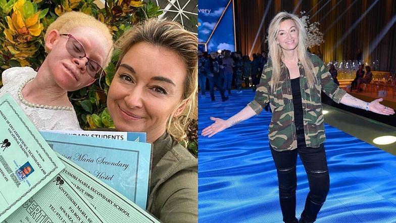Martyna Wojciechowska pogratulowała Kabuli wyników w nauce.