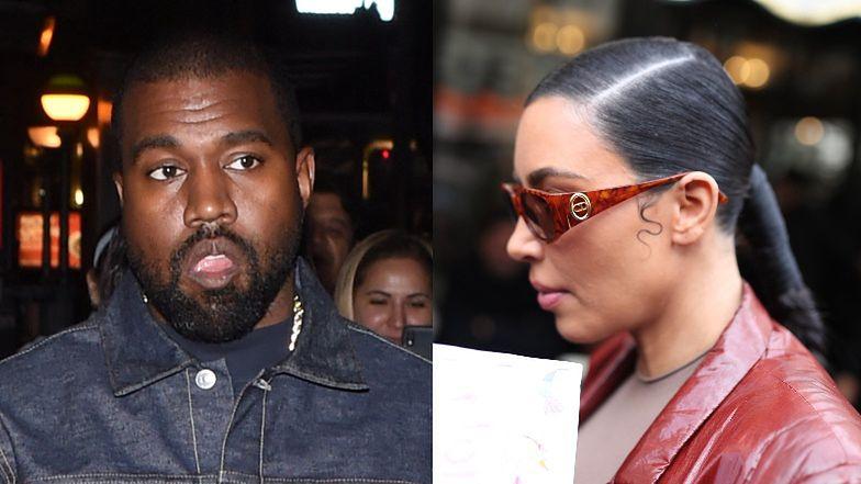 Kanye West od dawna chciał się ROZWIEŚĆ z Kim Kardashian. Sugeruje, że go zdradziła i oskarża ją o... RASIZM