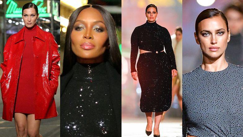 Gwiazdy modelingu na ulicznym pokazie Michaela Korsa: Bella Hadid, Naomi Campbell, Ashley Graham (ZDJĘCIA)