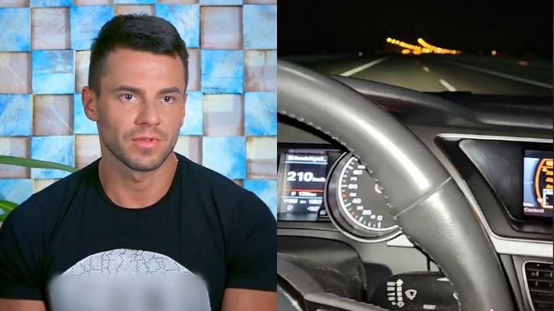 """Krzysztof z """"Hotelu Paradise"""" pędzi ponad 200 km/h i... transmituje wszystko na TikToku!"""