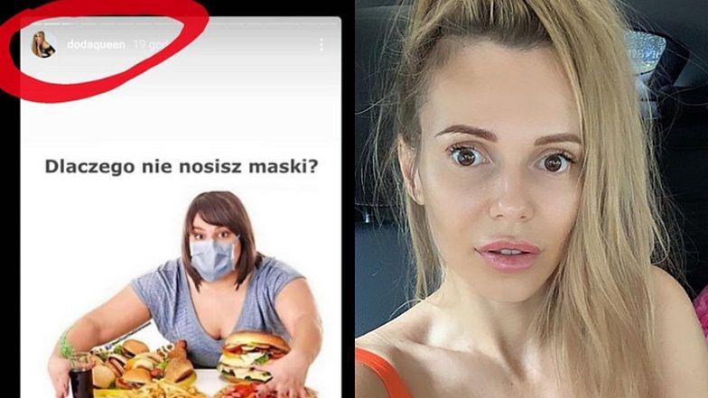 """Skrytykowała Lewandowską, teraz zarzuca Dodzie FAT SHAMING. Maja Staśko: """"Do fatfobii dodała antyszczepionkowość. MASAKRA"""""""