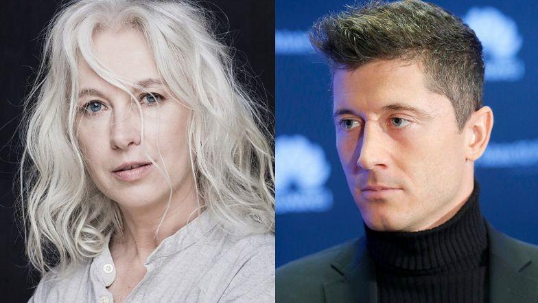 """Manuela Gretkowska komentuje odznaczenie dla Roberta Lewandowskiego: """"Można grać szmatą honorowo, a ZŁOTĄ PIŁKĄ SIĘ ZESZMACIĆ"""""""