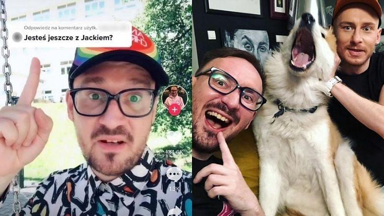 """Mariusz z """"Gogglebox"""" pokazał nowego partnera! """"Z Jackiem nie jestem PARĘ LAT. Występujemy w telewizji jako para znajomych"""""""