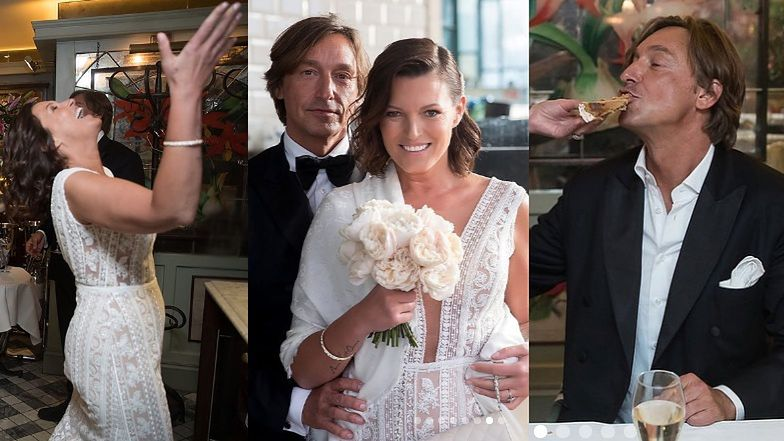 Tak wyglądało wesele Felicjańskiej i Montany: karmili się tortem i pokazali akt małżeństwa