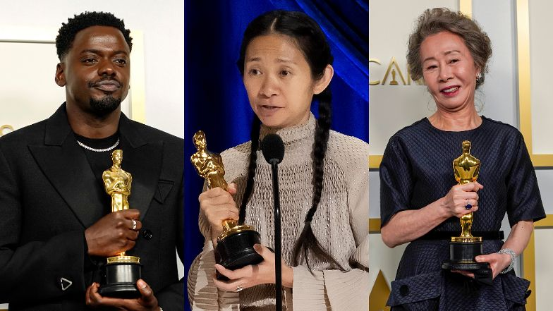 """Oscary 2021 - wyniki: Frances McDormand i Anthony Hopkins najlepszymi aktorami, """"Nomadland"""" najlepszym filmem"""