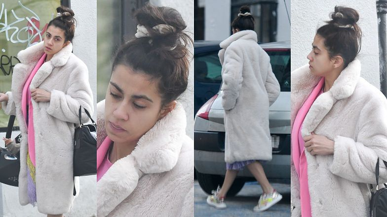 Maja Hyży ziębi łydki na spacerze z córeczką Antoniną (ZDJĘCIA)