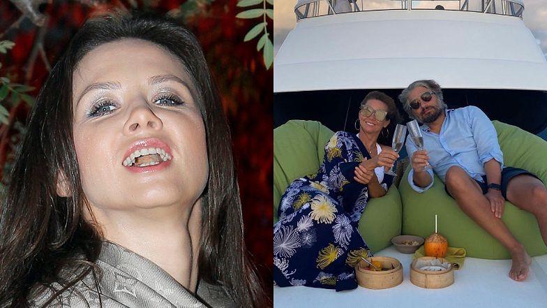 """Kinga Rusin sączy szampana z Markiem i """"NIE POZDRAWIA CEBULAKÓW"""" (FOTO)"""