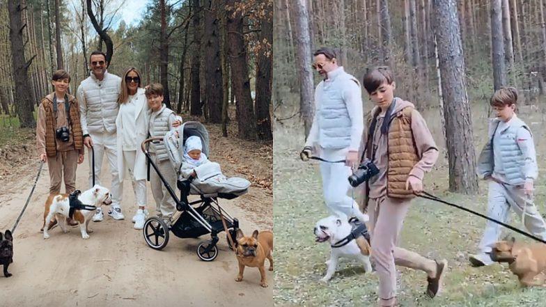 Małgorzata Rozenek chwali się swoją PERFEKCYJNĄ RODZINĄ podczas spaceru w leśnej scenerii