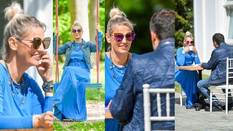 Zakochana Dominika Tajner chwali się CHŁOPAKIEM na ustawce z paparazzi