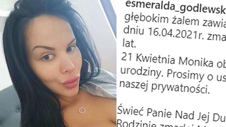Esmeralda Godlewska WOŁA O POMOC, publikując WŁASNY NEKROLOG