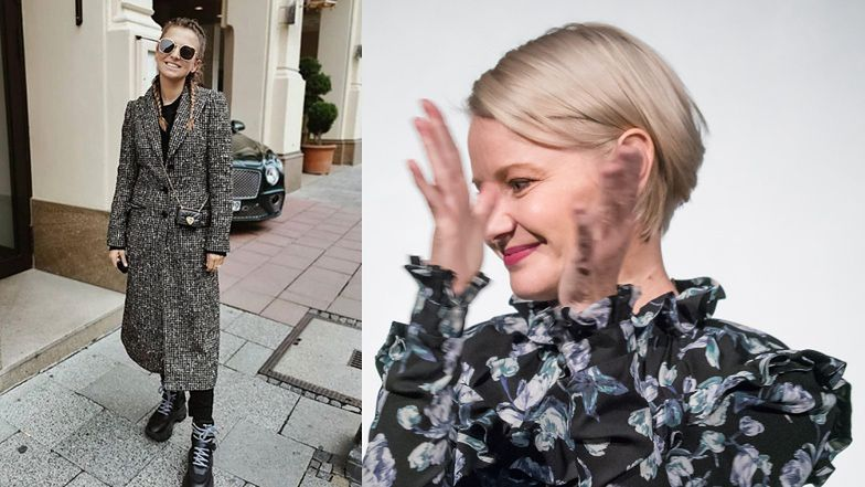 """Fashionistka Małgorzata Kożuchowska zachwyca się ciuchami Lewej: """"ALE STYLKA SUPEROWA"""" (FOTO)"""