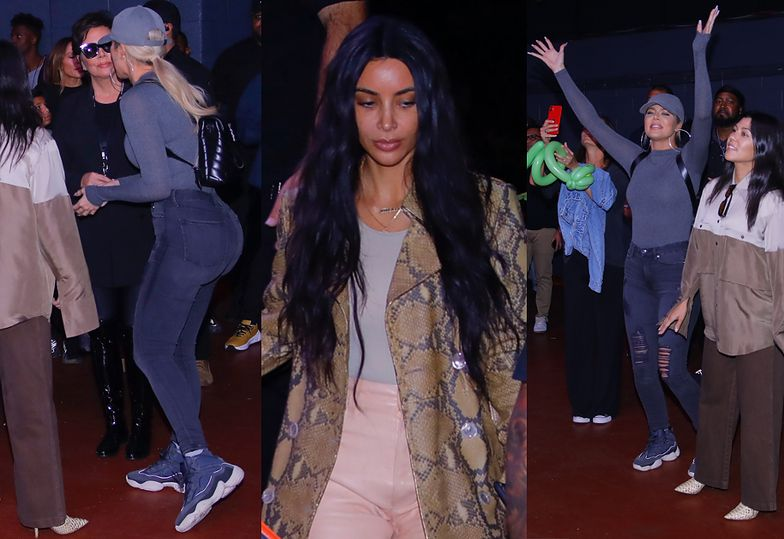Podekscytowana Khloe Kardashian twerkuje okazałym odwłokiem na koncercie Kanye Westa
