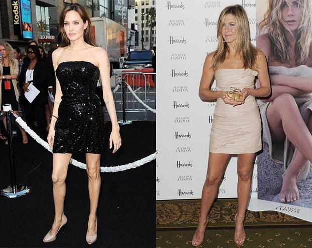 KTÓRE NOGI ŁADNIEJSZE? Aniston czy Jolie? (PORÓWNAJ!)