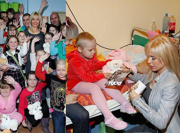 Doda z dziećmi chorymi na raka (ZDJĘCIA)